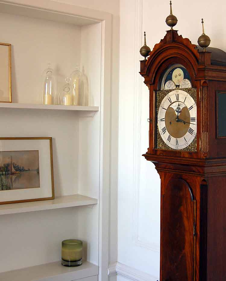 Grandfather clock in hall